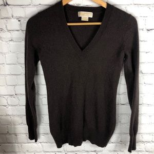 100% Cashmere MICHAEL Michael Kors V-Neck Sweater